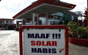 Solar Langka, Angkutan Umum Lumpuh