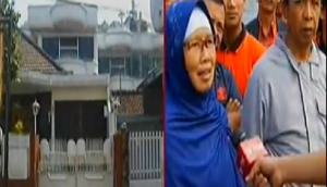 Ketua RT di depan rumah yang diduga markas sekte seks bebas di Bandung.