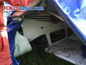 Pesawat Cessna 172 Tergelincir di Pangandaran