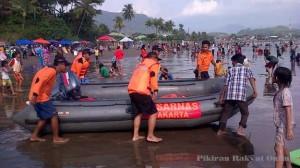 Tim SAR Gabungan Cari Dua Korban Hilang di Pantai Pelabuhan Ratu