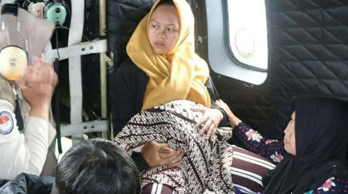 evakuasi ibu hamil cileuksa