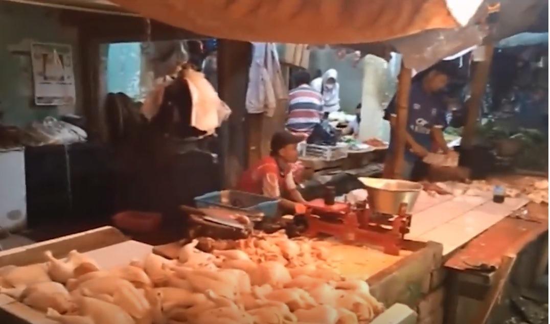 ayam gelonggong pasar jumat tenjolaya bogor